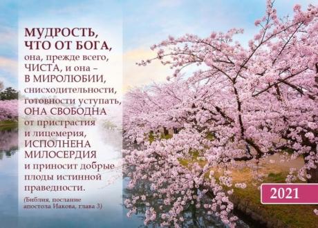 Календарь Карманный 2021 Мудрость от Бога